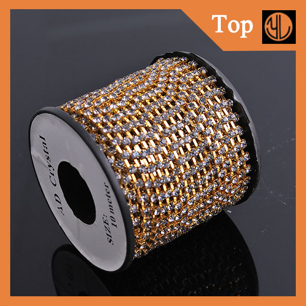 A Grade Stones Crystal Rhinestone Cup Chain For Belts Design