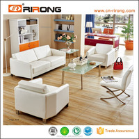 popular high quality hearted pu leather modern office sofa factory sell directly