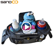 Free sample 2017 wholesale baby stroller organizer, outdoor travel hanging baby bag