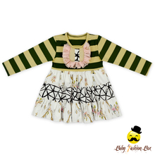 Remake Boutique Long Sleeve Fall Wear Baby Girls Dresses Girls Cotton Frock Designs