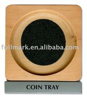 2016 Wholesale euro coin tray,low price wooden coin tray from Chian