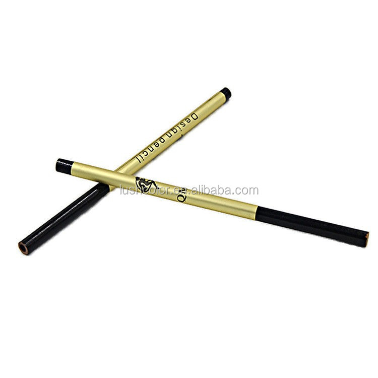 Good quality permanent makeup waterproof 12pcs/bag cosmetics Black Eyebrow Pencil