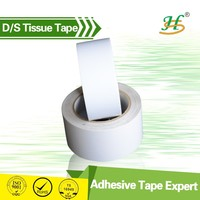 Strong adhesive double sided tissue adhesive balloon bond tape