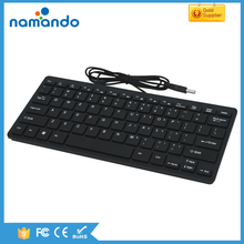 2017 new ultrathin mini chocolate keyboard USB wired multimedia computer keyboard