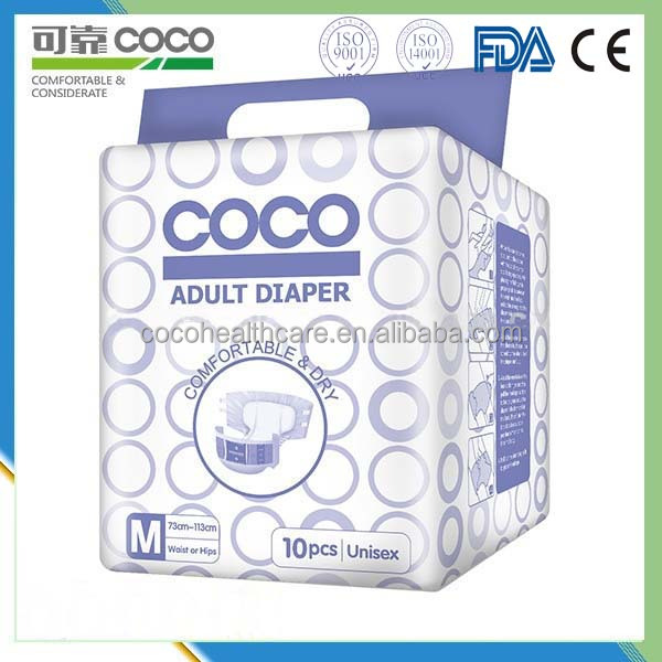 800*650mm big size aduld diaper with improted SAP adult diaper factory