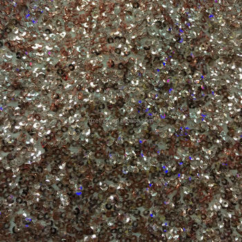 New design stretch 3MM concave sequin fabric for dress