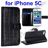 New Product Wallet Style Flip Stand Leather Case Cover for iPhone 5C with Card Slots, hot selling wallet case for iphone5c