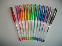 plastic and tattoo with white ink for rainbow with erasable gel ink pen