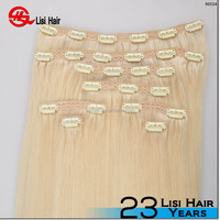 Full head top to end same hair wet and wavy clip in hair extensions 200 grams clip in human hair extensions