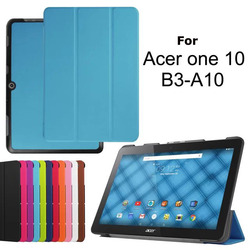 PREMIUM 3 FOLDING PU TABLET LEATHER CASE FOR ACER Iconia One 10 B3-A10 SMART STAND COVER