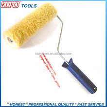 "9"" Economy cheap 100% yellow polyster decorative paint brush roller brushes"