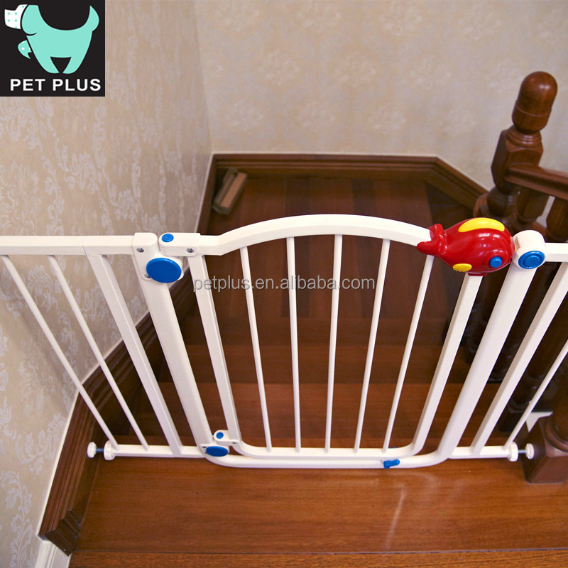 New Style Baby Gate Childrens safety Stair Climb Pet dog Safety Door with RED fish