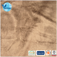 100% Polyester Double Micro Velboa Fabric Mink Micro for Garment