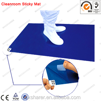disposable tacky mat for cleanroom