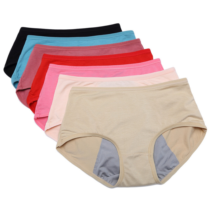 Foreign <strong>trade</strong> women comfortable cotton menstrual breathable leakproof mid-waist physiological period panties