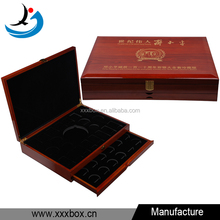 high quality glossy lacquer finish wooden coin collector box with drawer