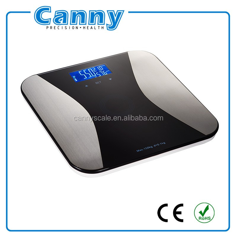 CF372 Electronic Body Fat Weighing Scale, High-End Body Fat Hydration Monitor Super large LCD