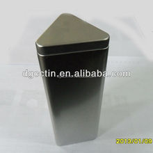 Factory price triangle tea tin box