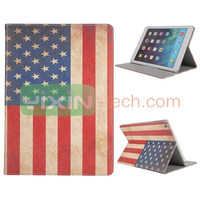 USA Flag Pattern for iPad Air Folio Stand Leather Case Cover