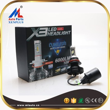 2016 Latest Philip Zes Gen2 X3 Led Headlight 50w 6000lm fanless Ip67 2 Years Warranty