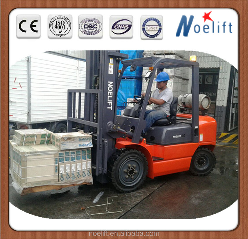 Balance weight fork lifter / realiable IC pneumatic tire forklift with LPG system