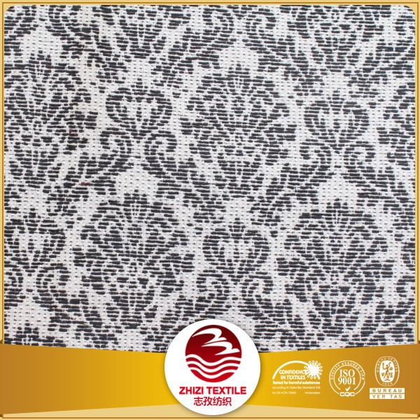 100% cotton balck and white jacquard upholstery textile fabric cotton