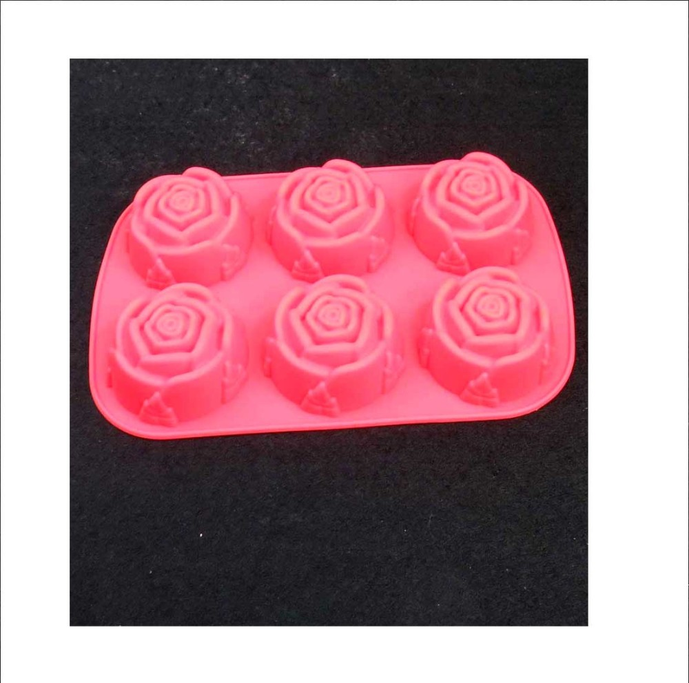 2015 new design xmas silicone cake mold/rose cake mold for microwave cake
