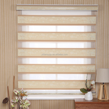Manual jacquard day night blind curtain fabric office curtains and blinds window roller zebra blinds