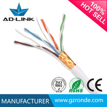 Indoor Network Cable CCA FTP Cat5e Shielded 24AWG 4P 1000FT Coiled Aluminum -Foil Twisted Pair 0.50MM 305M