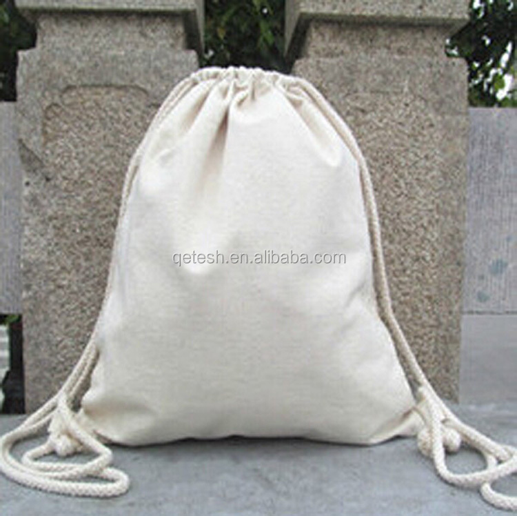 2016 High Quality Promotional Cotton Small Drawstring Bag