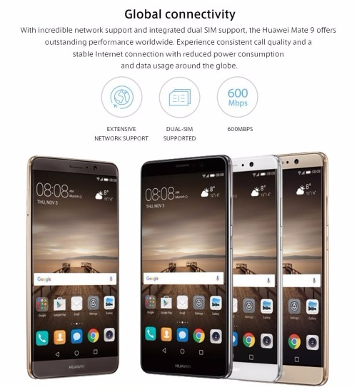 Latest in stock Original HUAWEI Mate 9 128GB 64GB Mobile phone/ Huawei mate 9 64GB 32GB Smartphone Android 7.0