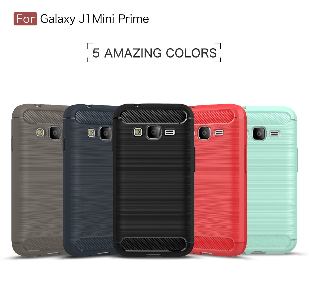 TPU Soft Case For Samsung Galaxy J1 Mini Prime Carbon Fiber Pattern Silicon Case MT-6255