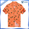 Hawaii Hangover MEN'S HAWAIIAN SHIRT ALOHA SHIRT ORANGE PALM