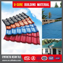 model house roof UV coating brown building material price per synthetic resin sheet curved types of roof tile