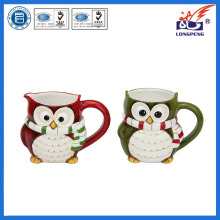 Novelty Owl Bird Ceramic Mugs Cups Red Green Tea Coffee Gift NEW,Figural Owl Mugs, Animal Coffee Tea Mugs Gift for Friend