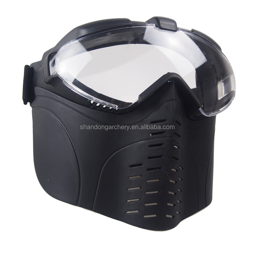 Anti-fog Adjustable strap paintball mask Archery game use tag face mask
