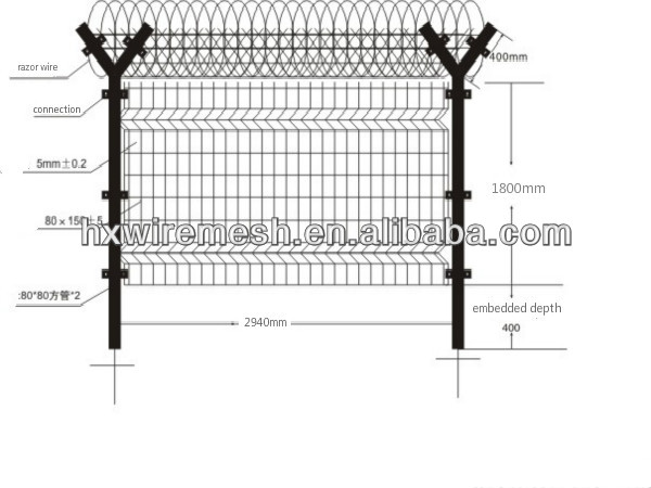High security airport fence factory price