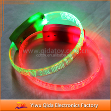 factory multi-color TPR flashing party led bracelet