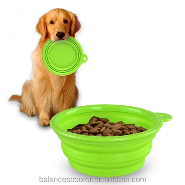 Dog pet premium unbreakable silicone dog bowl cat travel bowls dropship