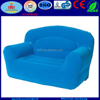 Blue Inflatble 2 person flocked chair, inflatable double flocked sofa