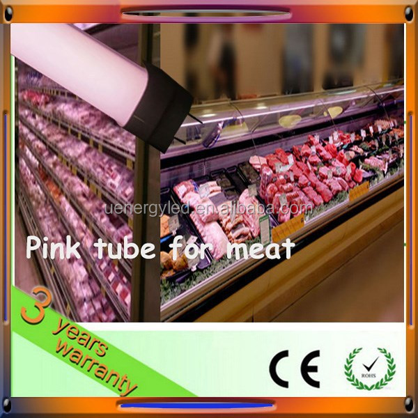 super bright 2300lm 5ft 22w t8 pink met tube