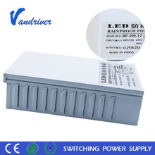 110V 220V LED Driver 300W IP65 Rainproof Constant Voltage Switching Power Supply 110V AC-DC Lighting Transformer Outdoor Use