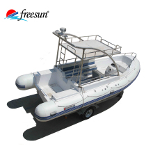 Luxury rib inflatable boats frp boat