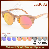 Hot new products for 2016 premium quality uv400 lens wholesale wood sunglasses LS3032-C5
