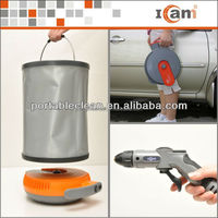 12v spray gun wash machine with 15L folding bucket
