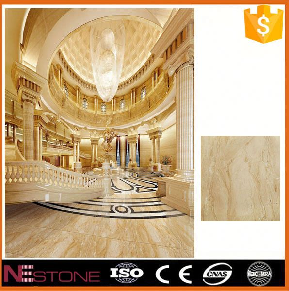 Bathroom countertop Z-shape golden spider marble tile for exterior wall decoration