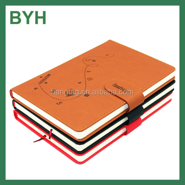 Fashion design paper spiral note book decorating school books branded exercise books with padd