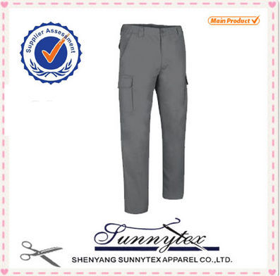 Newest design women washed silk-crepe cargo pants for girls and ladies
