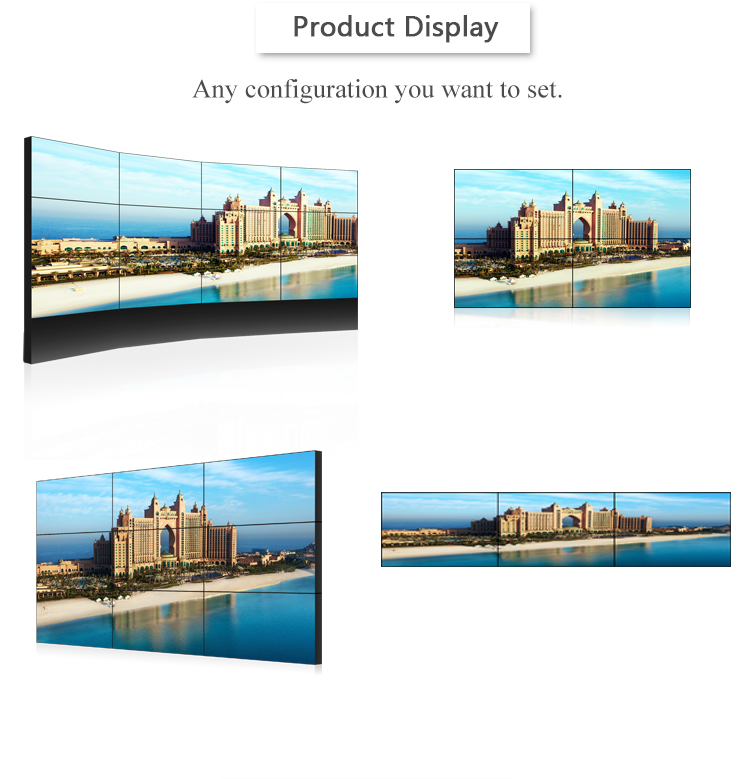 49 '' Full HD video wall controller 3.5mm bezel 2x2 video wall