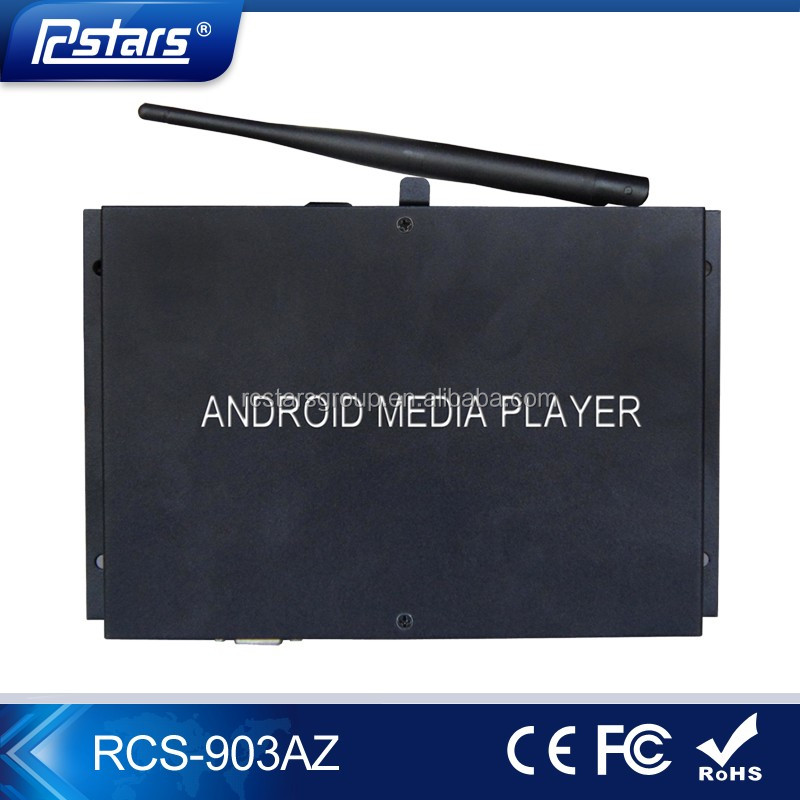 Full HD 1080P Wifi Android 4.4 OS Media Player Box with 1GB DDR3 Memory and 4GB Storage digital signage media player